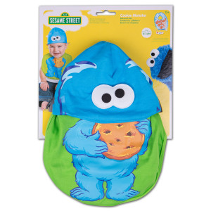 Sesame Street - Cookie Monster Bib & Hat