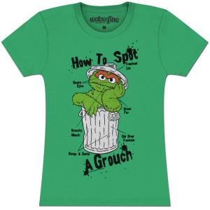 Oscar the Grouch Spot Ladies T-shirt