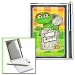 Sesame Street Oscar Metal Notebook w/ Pen