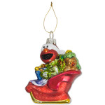 Elmo Sleigh Glass Ornament