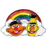 Bert & Ernie Rainbow Belt Buckle