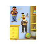 Bert and Ernie Peel and Stick Wall Decal