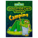 Glow-in-the-Dark Camping Tattoo Book