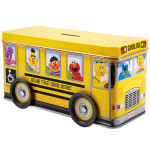Sesame Street School Bus Tin Bank