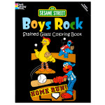 Sesame Street: Boys Rock Stained Glass Coloring Book