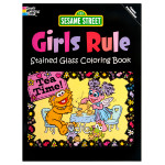 Sesame Street: Girls Rule Stained Glass Coloring Book