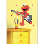 Elmo Rock n Roll Guitar Peel and Stick Giant Wall Decal
