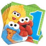 Sesame Street 1st Birthday Luncheon Napkins