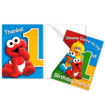 Sesame Street 1st Birthday Invitations/Thank You Cards