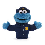 Cookie Monster Policeman Puppet