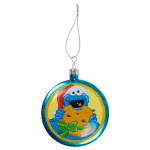 Sesame Street Cookie Shatterproof Glass Ornament