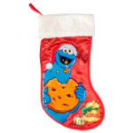 "Cookie Monster 19"" Applique Stocking"