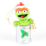 Oscar the Grouch Trash Can Ornament