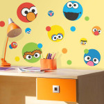 Sesame Street Face Dot Wall Decals