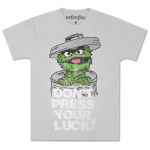 Oscar the Grouch Don't Press Luck T-Shirt
