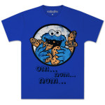 Cookie Monster Om Nom Nom T-shirt