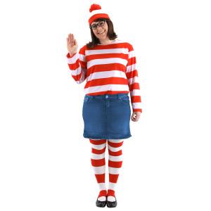 Where's Waldo Plus Size Wenda Costume Kit