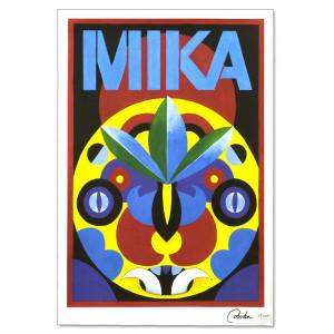 Mika Tribal Mask Poster