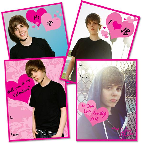 Bieber Valentine#39;s Cards