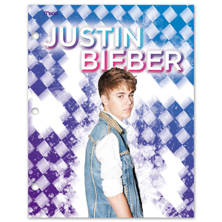Justin Bieber Purple Diamond Folder