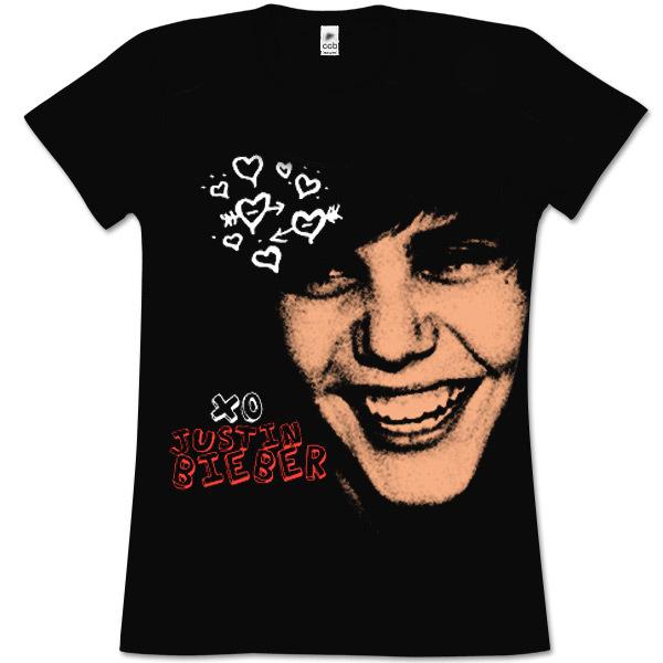 i love justin bieber t shirts. Justin Bieber XO Girls T-Shirt