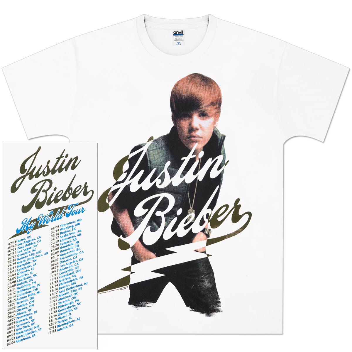 Justin Bieber Halftone Fancy 2010 Tour T-Shirt