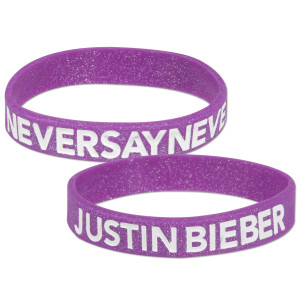 Justin Bieber Never Say Never Purple Glitter Wristband