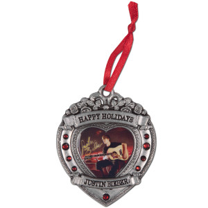Justin Bieber Guitar Heart Ornament