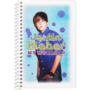Justin Bieber College Ruled Notebook - My World