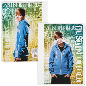 Justin Bieber Wide Ruled Composition Book - Print