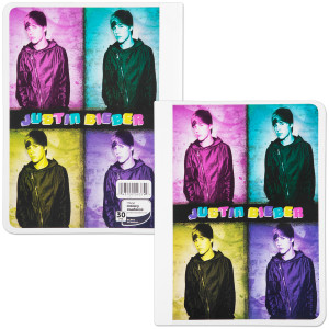 Justin Bieber Wide Ruled Composition Book - 4 Square