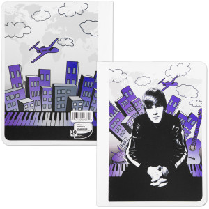 Justin Bieber Wide Ruled Composition Book - City