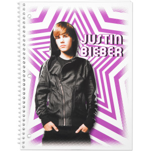 Justin Bieber Notebook 70 Count WR - Stars