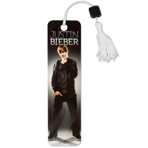 Justin Bieber Gray Bookmark