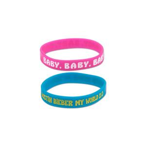 Justin Bieber Rubber Bracelet 2-Pack
