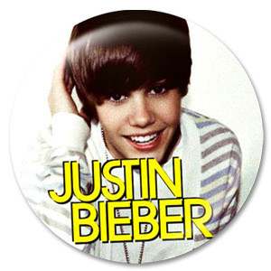 Justin Bieber Smile Photo Button