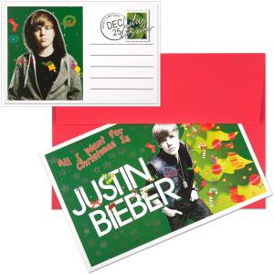 Justin Bieber Christmas Card Set