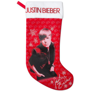 Justin Bieber Christmas Stocking