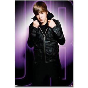 Justin Bieber Giant Purple Mural