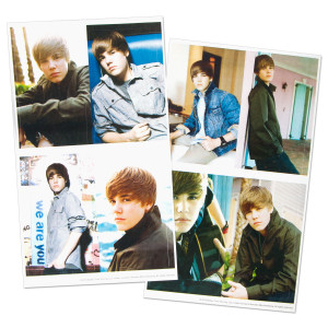 Justin Bieber Trading Sticker Pack