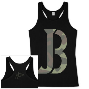 Justin Bieber JB Camo Crop Juniors Tank