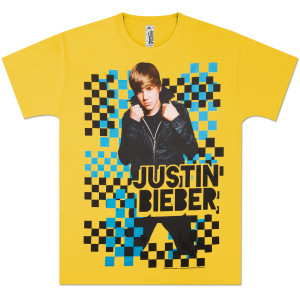 Justin Bieber Checkered T-Shirt