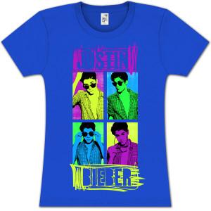 Justin Bieber Quad Mix Girlie T-Shirt