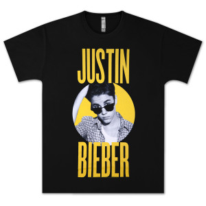 Justin Bieber Shades Yellow T- Shirt