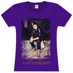 Justin Bieber Gold Shoes Ladies T-Shirt