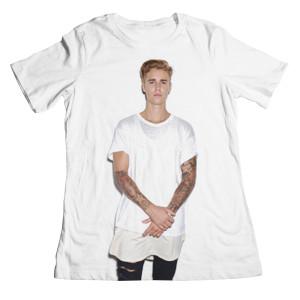 Justin Bieber Standing Photo Boyfriend Juniors T-Shirt