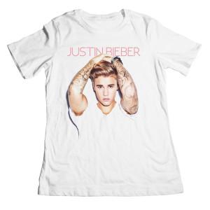 Justin Bieber Arms Up Boyfriend Juniors T-Shirt