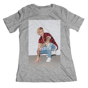 Justin Bieber Standing Down Boyfriend Juniors T-Shirt
