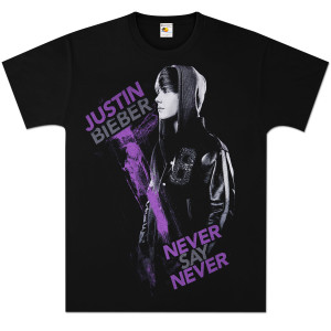 Justin Biebershirts on Justin Bieber  T Shirts     Justin Bieber Purple Paint T Shirt