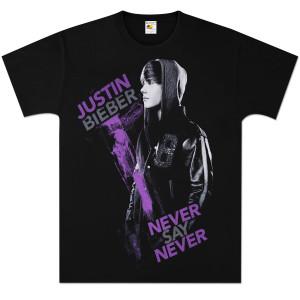 Justin Biebershirts on Justin Bieber  T Shirts     Justin Bieber Purple Paint T Shirt